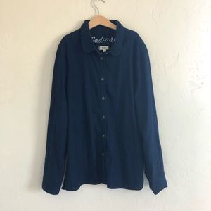 Madewell dark chambray button down